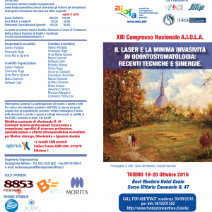 XIII Congresso Nazionale A.I.O.L.A. – TORINO 19-20 Ottobre 2018